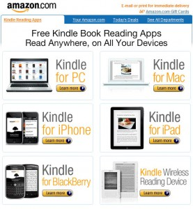 Kindle, Outer Banks Publishing Group, Kindle applications for    other devices